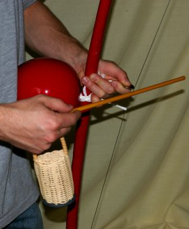 Detail of berimbau