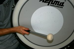 Marching bass drum
